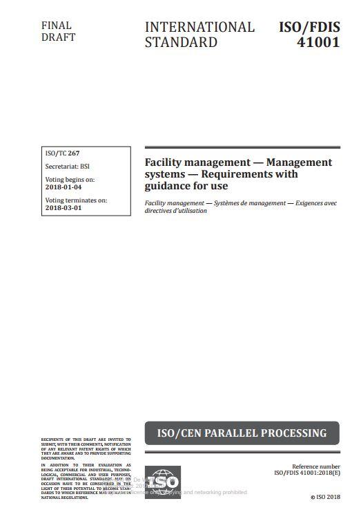 ISO41001 FDIS cover