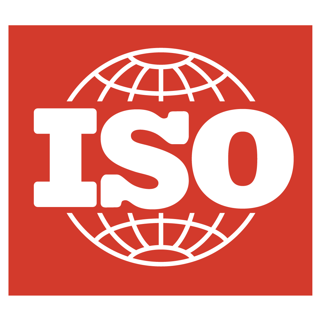 ISO logo red